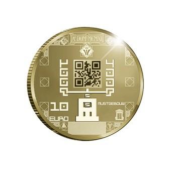 10-Euro-Jubiläumsmünze in Gold - Rückseite (Bild: Niederländische Münzanstalt)