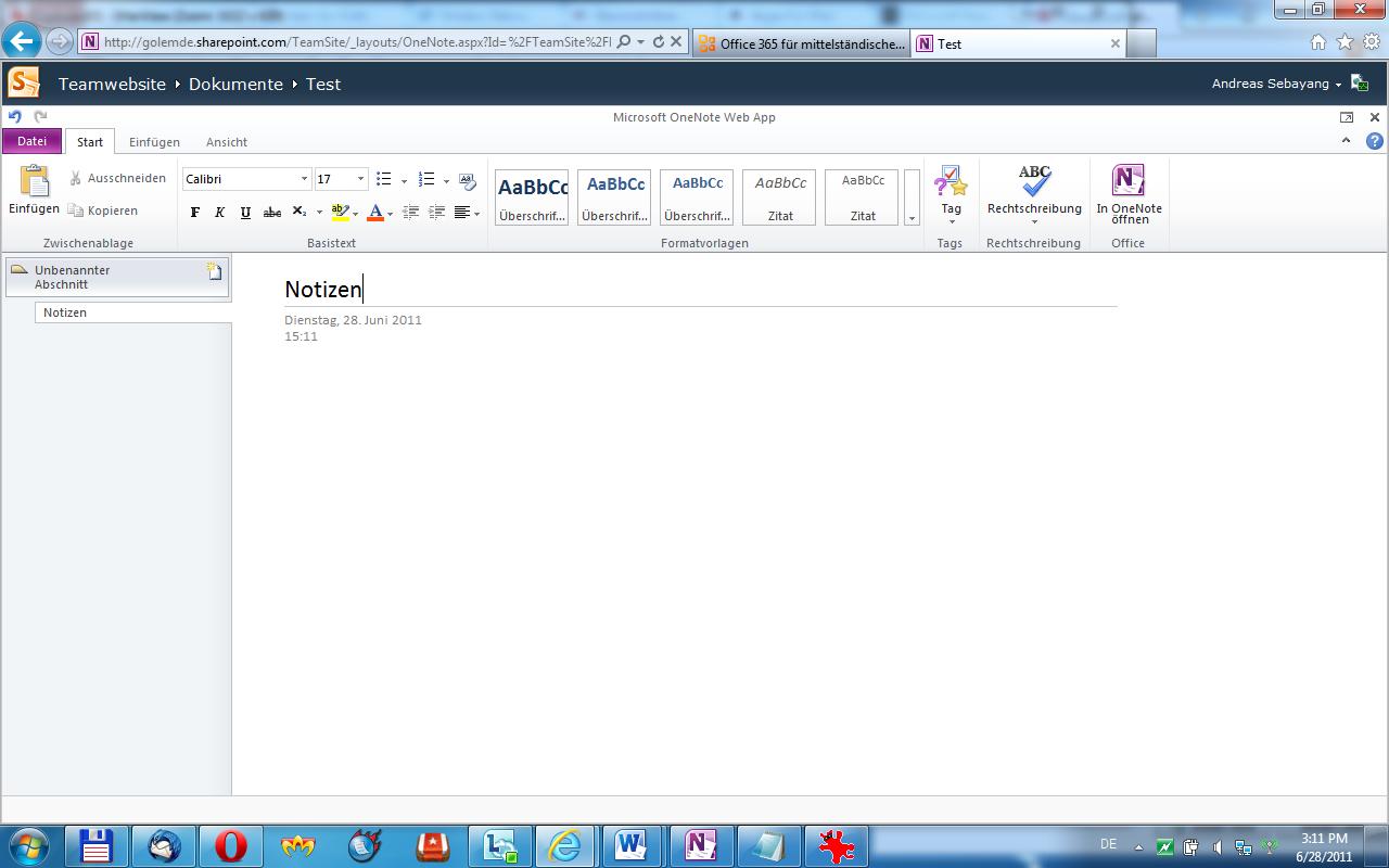 Microsoft: Cloud-Anwendung Office 365 startet offiziell - Onenote