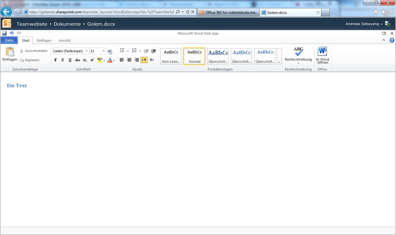 Microsoft: Cloud-Anwendung Office 365 startet offiziell - Word