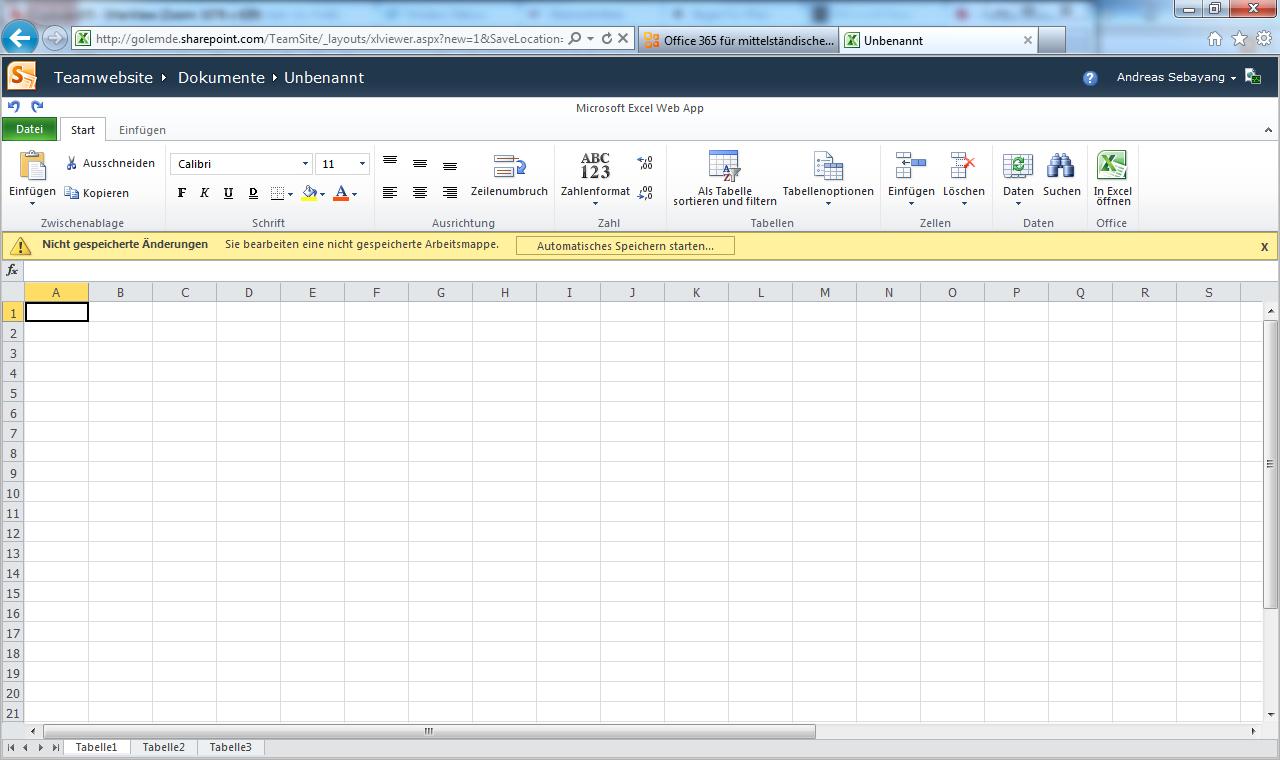 Microsoft: Cloud-Anwendung Office 365 startet offiziell - Excel