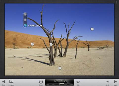 Snapseed - lokale Anpassungen mit U-Points (Bild: Nik Software)