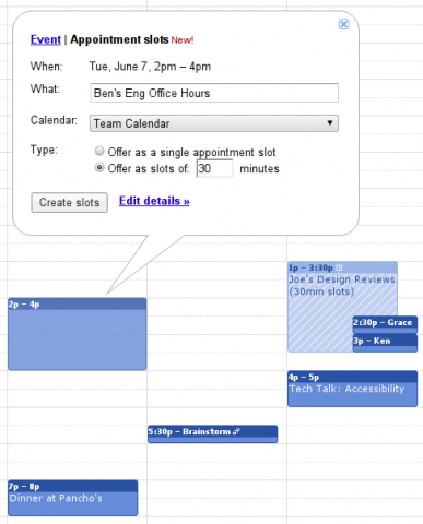 Google Kalender - Terminreservierungsfunktion konfigurieren