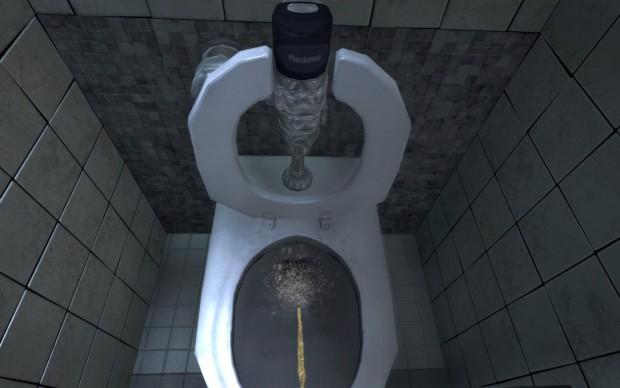 Urinieren als Zeitvertreib in Duke Nukem Forever - PC-Version (Bild: Golem.de)