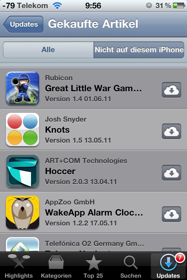 Ausprobiert: Cloud-Synchronisation mit iTunes 10.3 - Auch App Store und iTunes auf dem iPhone sind bereits angepasst worden.