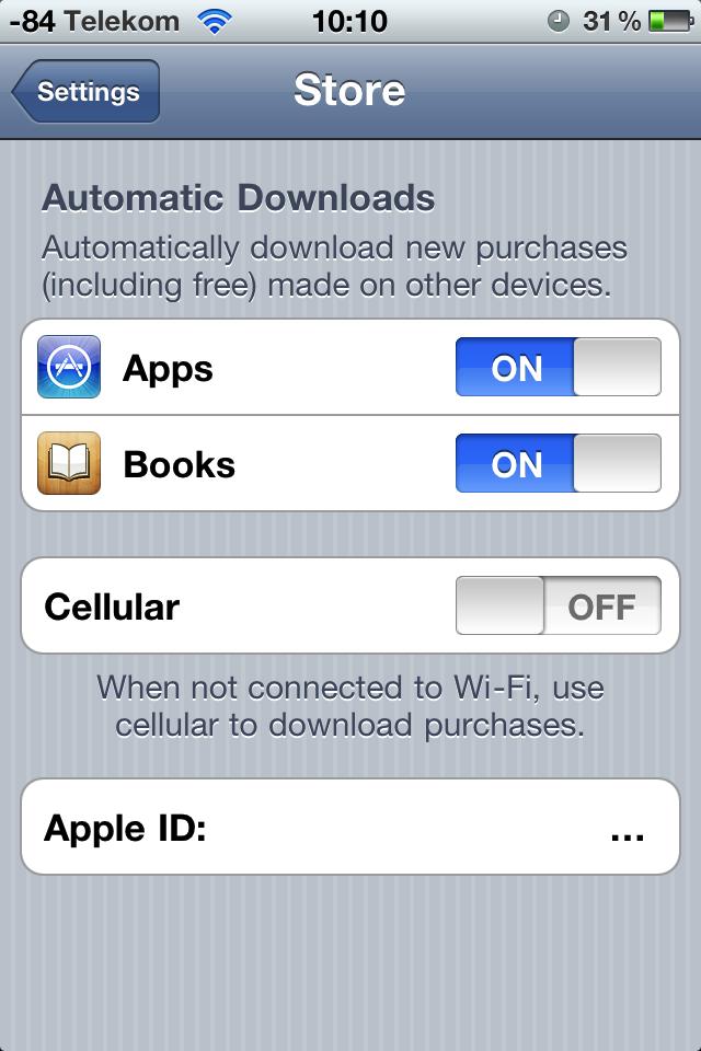 Ausprobiert: Cloud-Synchronisation mit iTunes 10.3 - Neue Optionen in iOS. Hier fehlt wegen des deutschen Zugangs wieder die Musik.