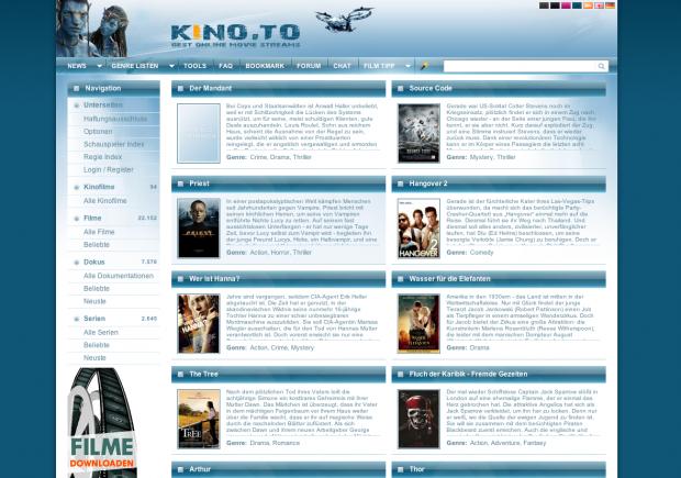 Aktuelle Filme bei Kino.to im Angebot