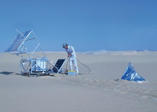 Solar Sinter in der ägyptischen Wüste (Bild: Amos Field Reid)