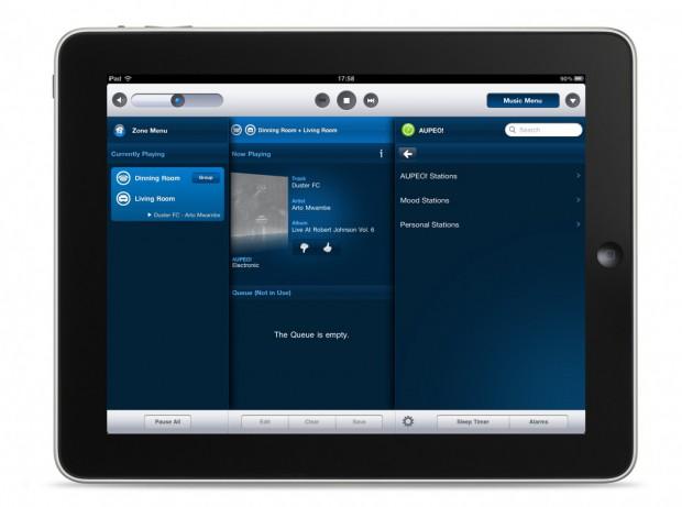 Aupeo in der Sonos-Controller-App für das iPad (Bild: Sonos)