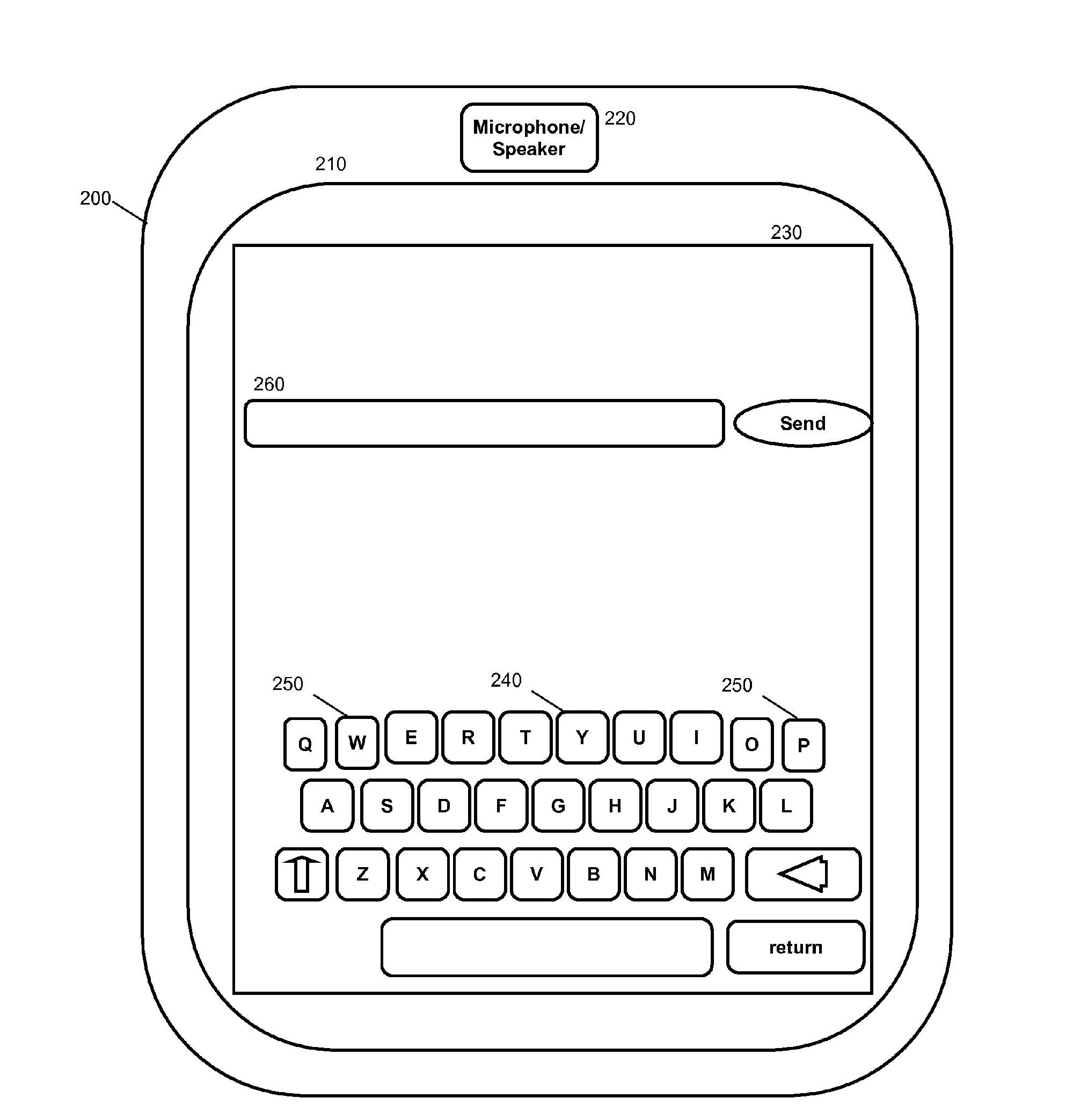 Morphing: Bildschirmtastatur passt sich den Fingern an - IBM Patentantrag 20110157090 mit individuell generiertem Tastenlayout (Bild: US-Marken- und Patentamt / IBM)