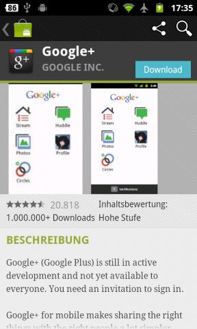 Android Market 3.0.26 - Anwendungsdetails