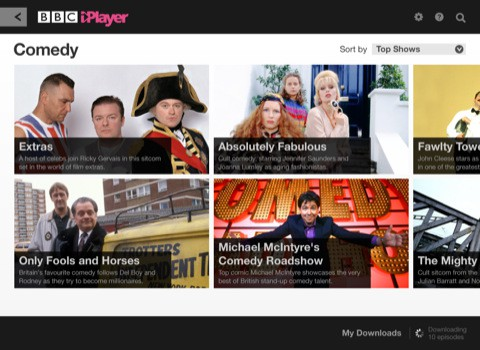 Globale Version der BBC iPlayer App.