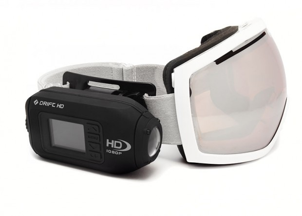 Drift HD an einer Skibrille (Bild: Drift Innovation)