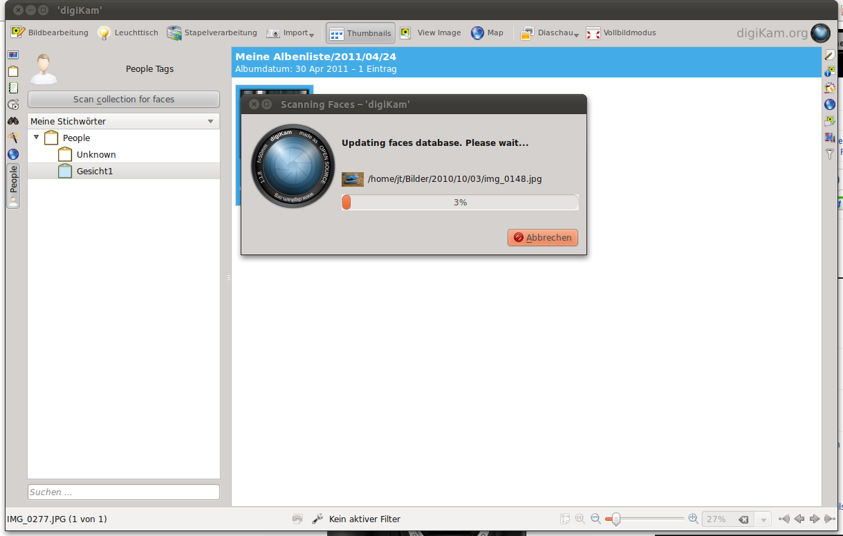 Test: KDE SC 4.7 auf dem Weg zur Tablet-Oberfläche - ... soll das Auffinden und Gruppieren von Bildern mit Personen erleichtern, ...