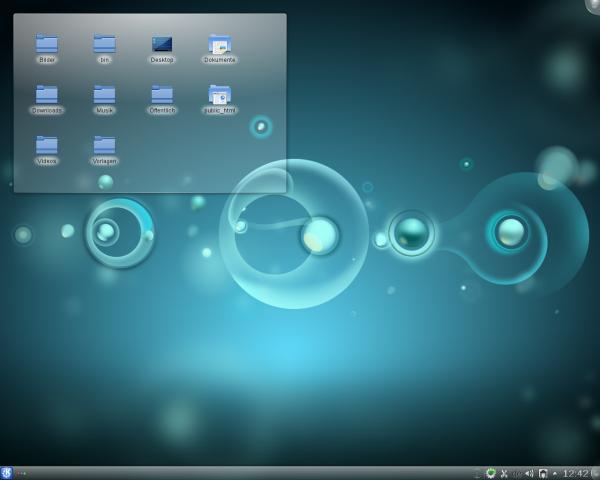 An der Standardansicht hat sich mit KDE SC 4.7 nichts geändert.
