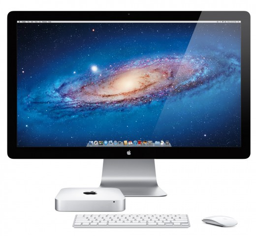 Apple Mac Mini mit Thunderbolt-Display und Magic Mouse (Bild: Apple)