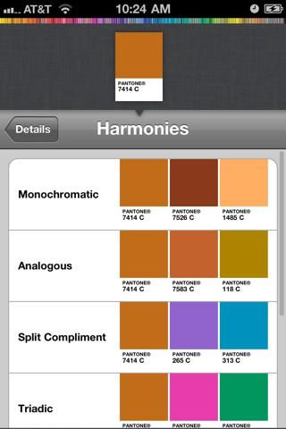 Mypantone 2.0 auf dem iPhone (Bild: Pantone)