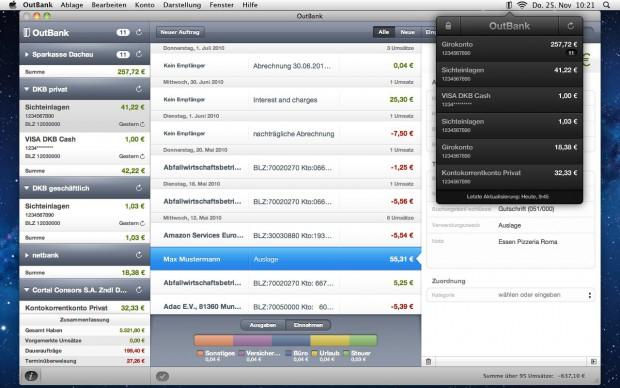 Outbank auf dem Mac