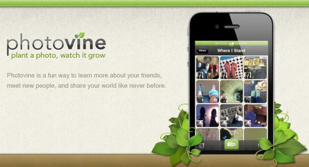 Photovine-Teaserwebsite (Bild: Google/ Slide)