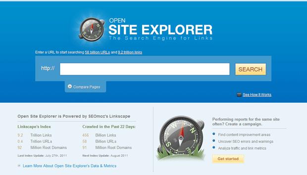 Open Site Explorer v3 von Seomoz