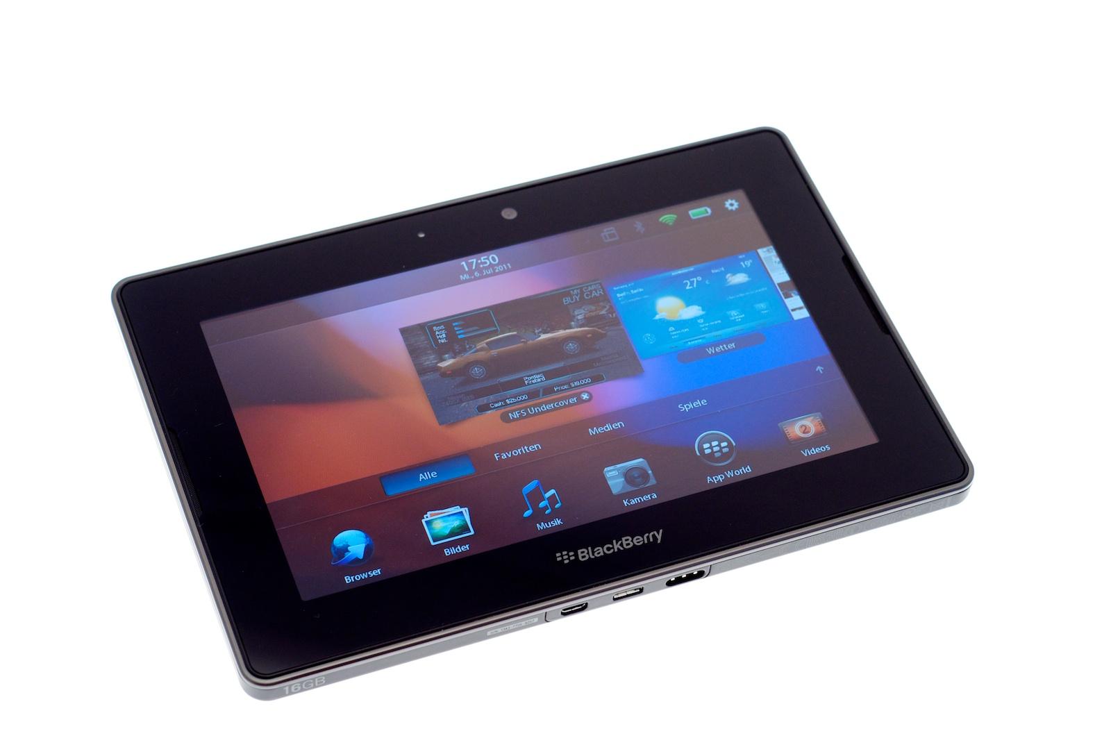 Blackberry Playbook im Test: Kompaktes Tablet mit intuitiven Gesten - Blickwinkelstabiles und helles Display (Bild: Andreas Sebayang)