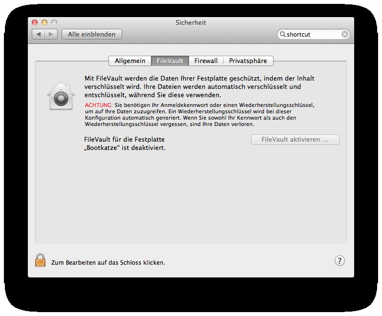 Mac OS X 10.7 Lion im Test: Schieben statt scrollen - Filevault 2