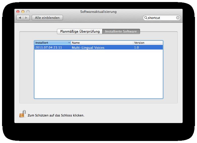 Mac OS X 10.7 Lion im Test: Schieben statt scrollen - Installierte Stimmen werden hier aufgelistet.