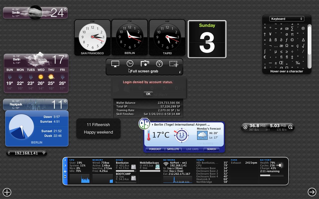 Mac OS X 10.7 Lion im Test: Schieben statt scrollen - Dashboard