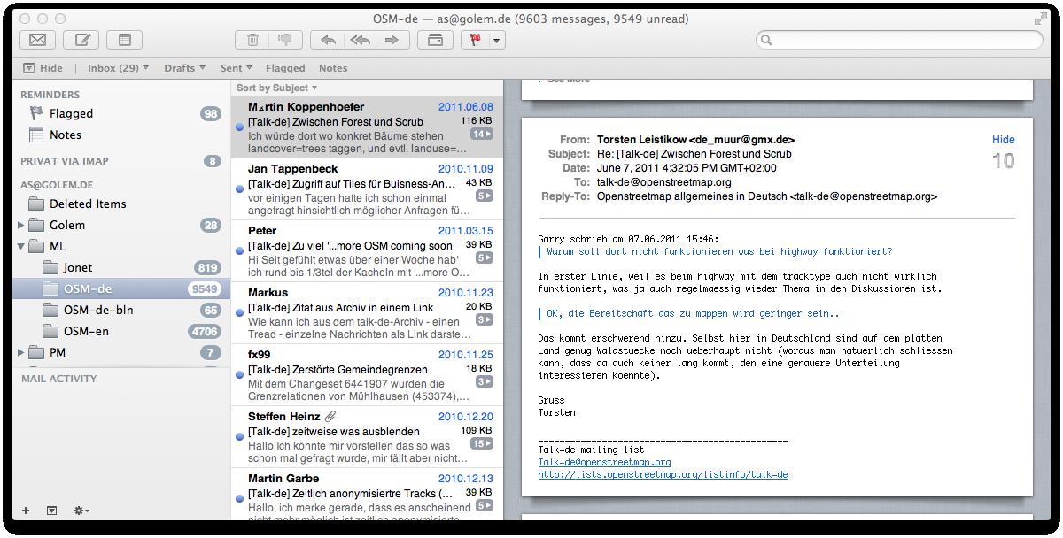 Mac OS X 10.7 Lion im Test: Schieben statt scrollen - ... und drei Spalten.