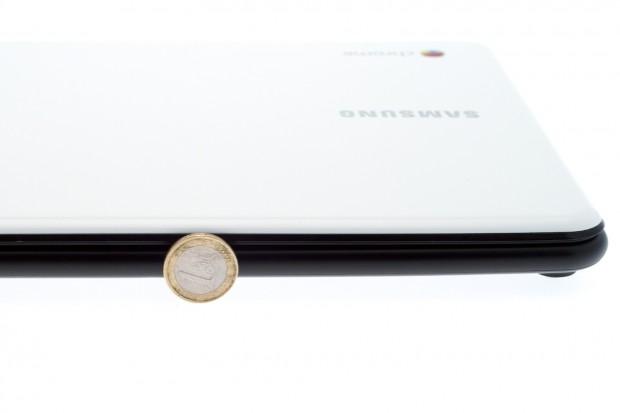 Eigentlich ist das Chromebook ziemlich dünn...,