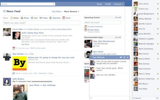 Facebook hat den Messages-Bereich erweitert - und eine neue Sidebar für Kontakte eingeführt. (Bild: Facebook)