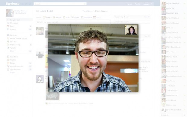 Facebook - Videocalling-Funktion in Aktion (Bild: Facebook)