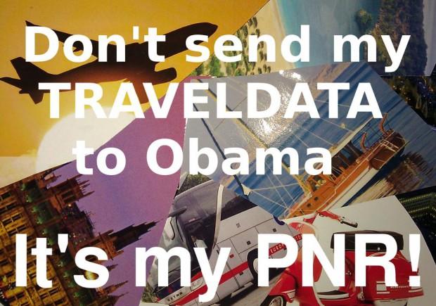 Beispielpostkarte zur NoPNR- Postkartenaktion (Bild: NoPNR)