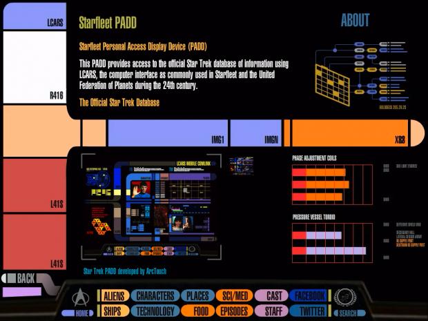Star Trek PADD - Star-Trek-Datenbank für das iPad (Bild: Golem.de)