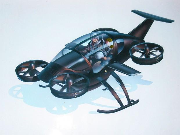 Konzeptzeichnung des Flugautos (Bild: Trekaero)