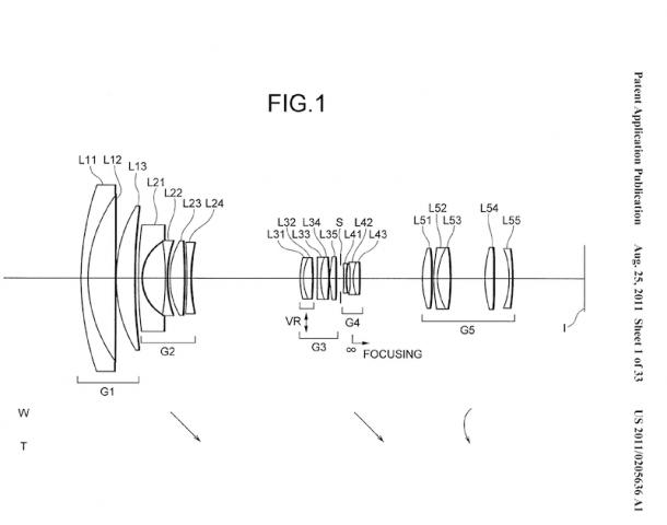 Schematischer Aufbau des 10-bis-100-mm-Objektivs  (Bild: US-Patent- und Markenamt/Nikon)
