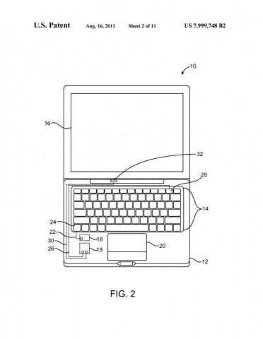 US-Patent 7,999,748 (Bild: US-Patent- und Markenamt/Apple)