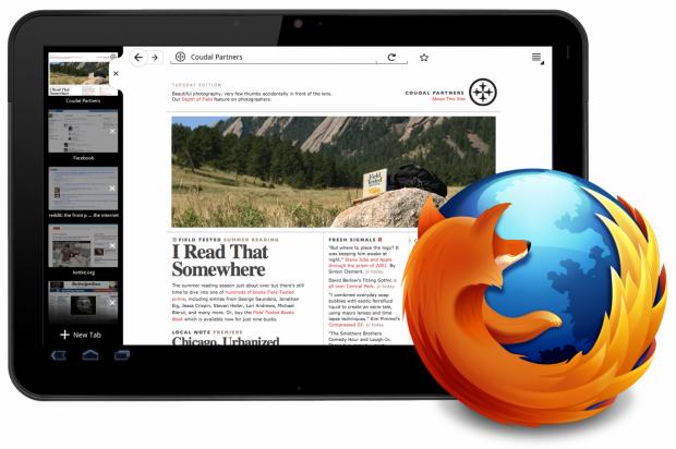 Entwurf: So könnte Firefox auf Android-Tablets aussehen.