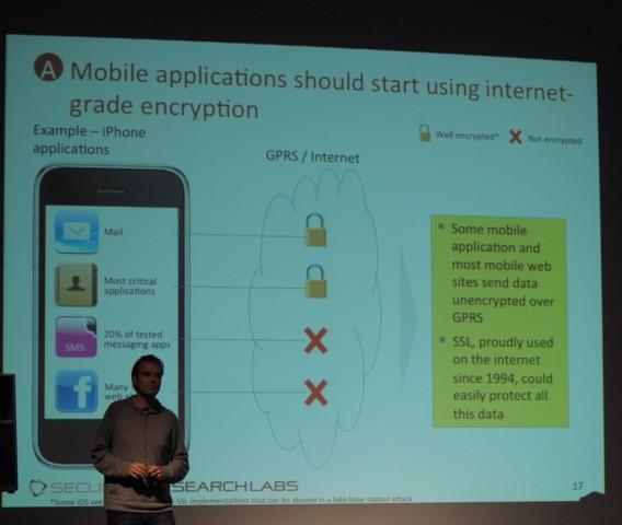 Karsten Nohl empfiehlt Anwendungsentwicklern auch bei mobilen Apps die Verwendung von SSL.