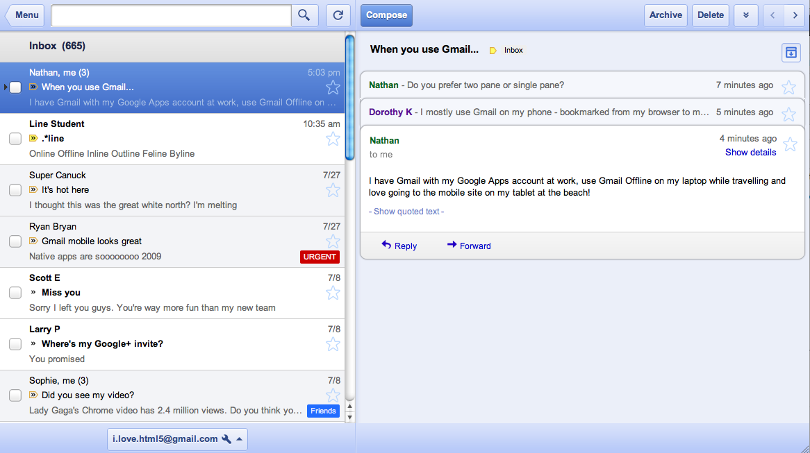 Webapplikationen: Google Mail, Kalender und Text & Tabellen gehen offline - Google Mail Offline