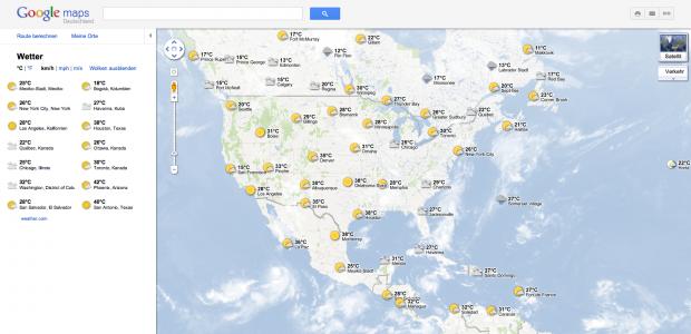 Google Maps mit Wettereinblendung (Bild: Google/Golem.de)