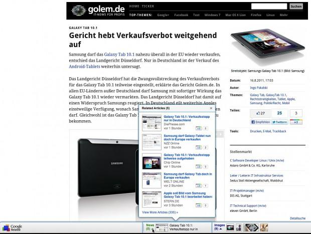 Google Related (Bild: Golem.de)