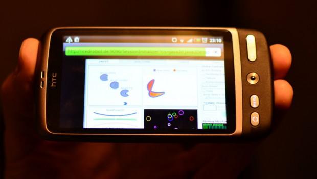 Java-Applikationen auf einem Android-Smartphone. (Bild: Mario Torre)