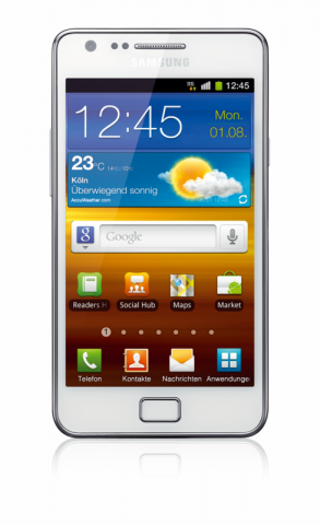 Samsungs Galaxy S2 in Weiß