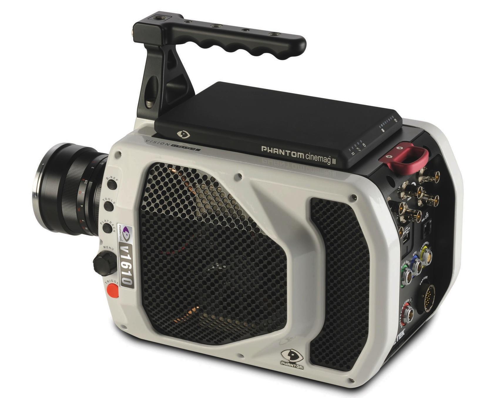 Hochgeschwindigkeitskamera: Filmen mit einer Million Bildern pro Sekunde - Vision Research Phantom v1610 mit Cinemag-Speichersystem  (Bild: Vision Research)