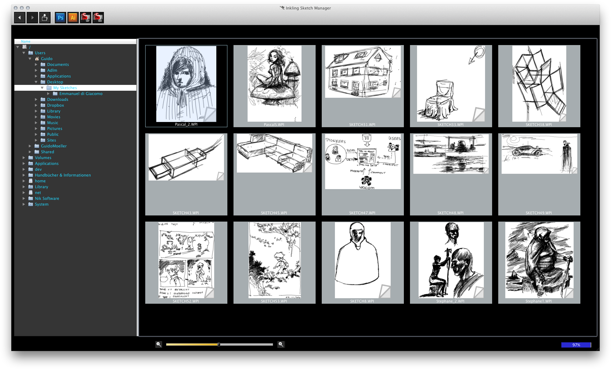 Inkling Wacom L 246 St Sich Vom Zeichentablett Screenshots