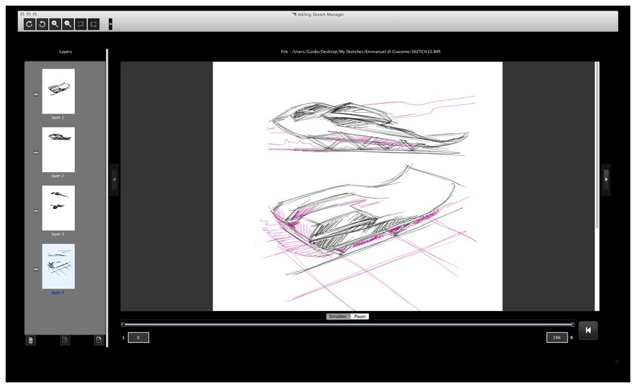 Digitaler Zeichenstift: Wacom Inkling pinselt auch für Photoshop - Mac-Software von Wacom Inkling (Bild: Wacom)