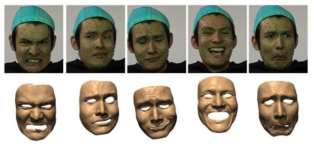 Neues System soll die Mimik menschlicher Gesichter nachbilden.