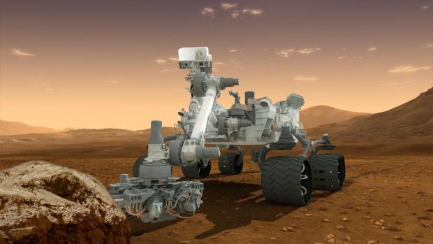 Künstlerische Darstellung von Curiosity auf dem Mars (Bild: Nasa)