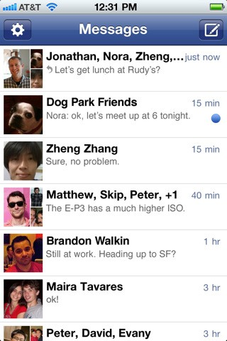 Facebook Messenger - iPhone-Version (Bild: Facebook)