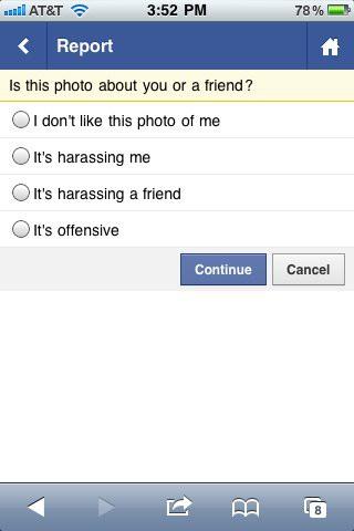 Mit dem Social Report können nun auch über m.facebook.com unangenehme Bilder gemeldet werden (Bild: Facebook)